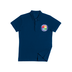 uniform blue shirt